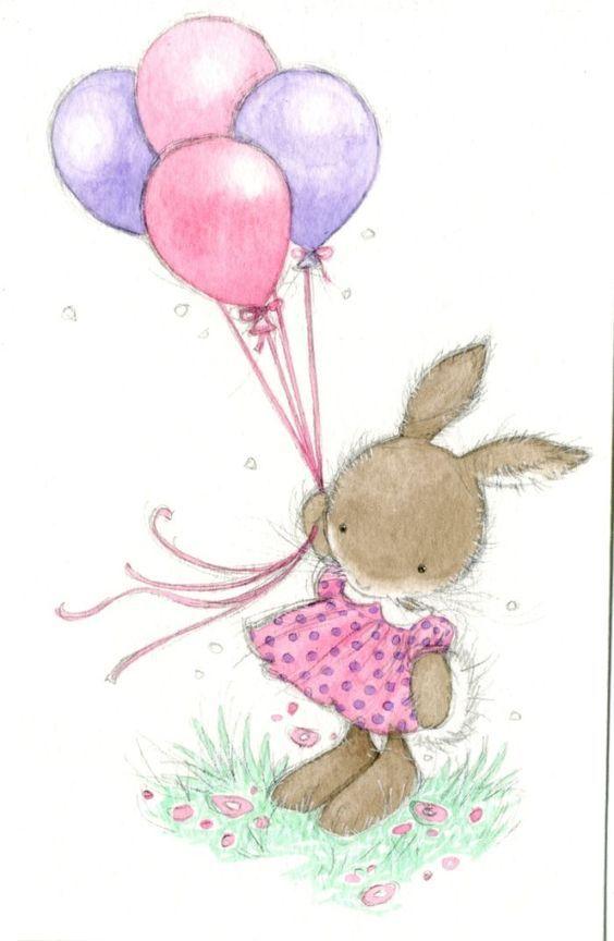 Картинки с зайчиками на день рождения