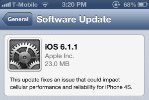 It seems that all our news lately have been about bug fixes and this is good news indeed. Further down this path, we find out about Apple's new iOS 6.1.1 update for the iPhone 4S which is supposed to rid it of all its major issues. This update is aimed mostly at a problem users seem to have with the