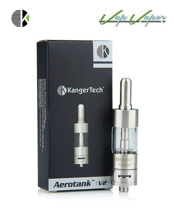 Atomizador V2 Kangertech - Tank reparable  http://www.vapvapor.es/atomizadores-y-tanks-vapear/aerotank-v2-single-kit  - Gran producción de vapor - Control de la producción de vapor (Airflow Control)  - Díficil de agrietarse o de tener pérdidas (hecho con un material resistente) - cristal pyrex - Fácil de limpiar - Compatible con los cigarrillos del modelo eGo y cigarrillos modelo 510. - Capacidad: 2,5ml - Material del metal: acero inoxidable y cristal pyrex