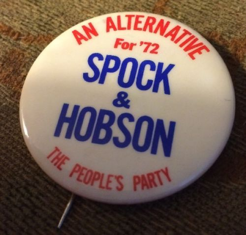 VINTAGE-1972-SPOCK-HOBSON-THE-PEOPLES-PARTY-1-75-PIN-BUTTON