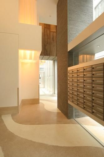 ... Mailroom Area | Lobbies | Pinterest | Post Box, Wall Design and Condos