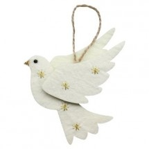 Felt Dove Christmas Tree Decoration