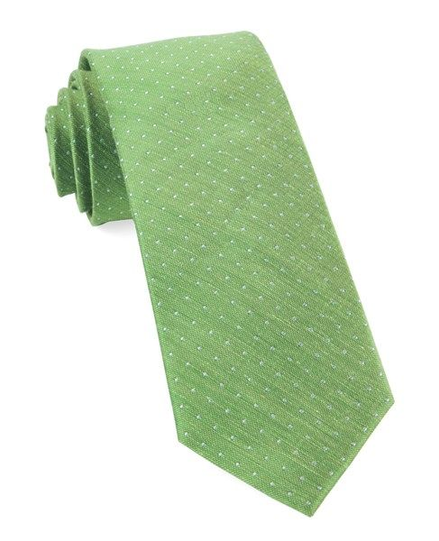 Handkerchief - Solid green with red & yellow specks & green edges Notch