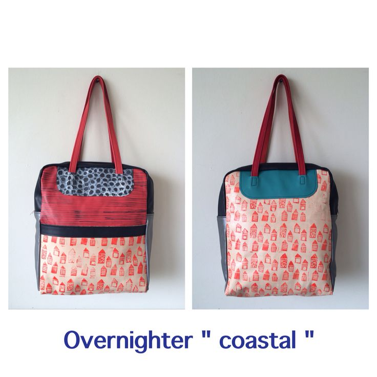 Handpainted leather overnighter by Julia Flanagan