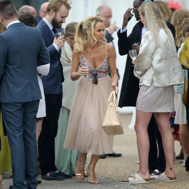 Amanda Holden stuns in backless summer dress as she joins flower girl and bridesmaid daughters at friend's wedding - Mirror Online
