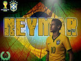 Neymar  Brazil by PanosEnglish