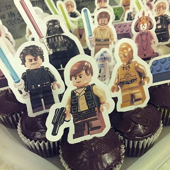 These Printable Lego Star Wars Cupcake toppers will make an amazing addition to your childs Lego Star Wars Themed Birthday Party!  Print all of the 13 included characters, Blocks, and Numbers to create amazing Birthday Decorations at your Lego Star Wars Themed Birthday!  *** This is an instant download, you can download it right from Etsy as soon as you buy it NO WAITING REQUIRED ***  Download them and print them and youll be ready to start decorating!  The instant download is for a PDF…