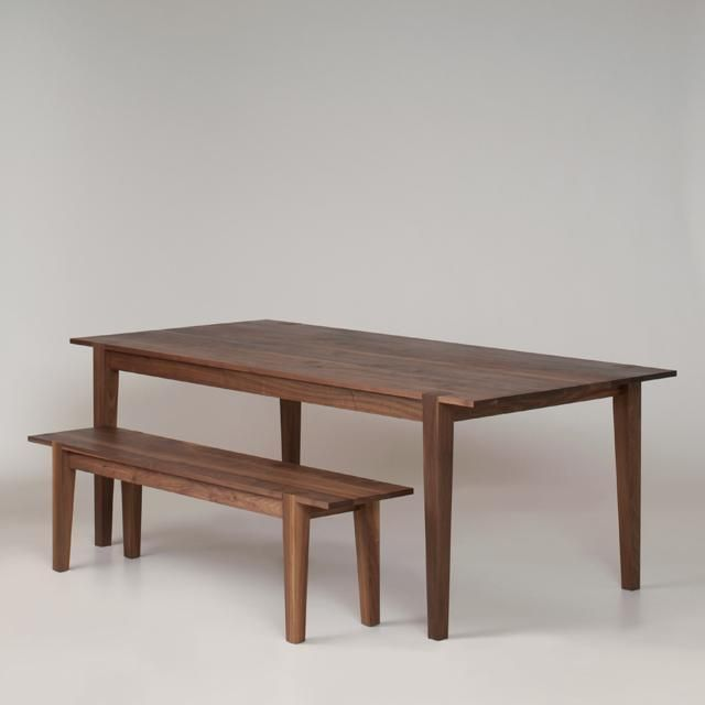 a shaker table and bench handmade in the northwest. Interior Design Ideas. Home Design Ideas