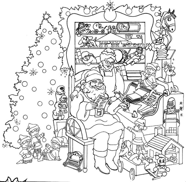 Detailed Christmas Coloring Pages | Coloring Pages