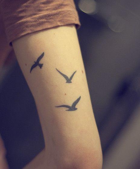 Three Birds Temporary Tattoo