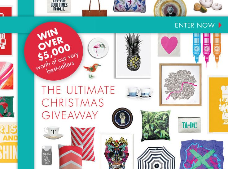 Enter to win over $5,000 worth of unique and beautiful goodies in the Everything Begins Ultimate Christmas Giveaway.  Simply click the image to enter via the Everything Begins Facebook page.
