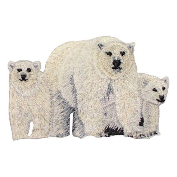 Iron on Polar Bear Applique Patch