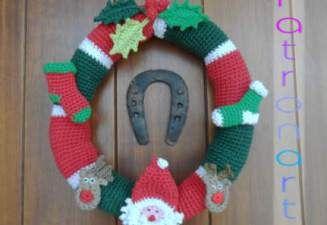 Corona para Navidad de Crochet
