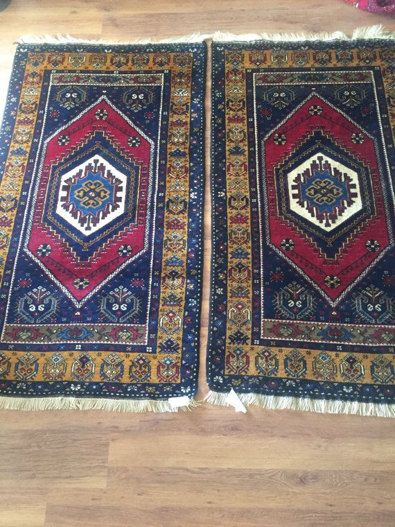 3'4''x5'9'' Anatolian Turkish Rugs Vintage Twin Carpets by RugToGo