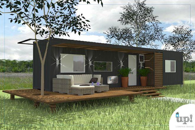 Casa Container 30m² e 1 quarto Casas containers