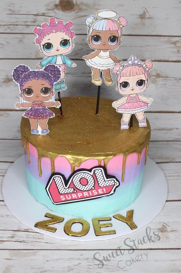 Lol Surprise Dolls Birthday Cake Lol Surprise Dolls