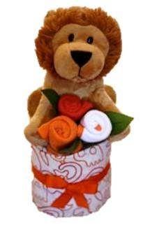 Mini lion nappy cake - Adelaide baby gift