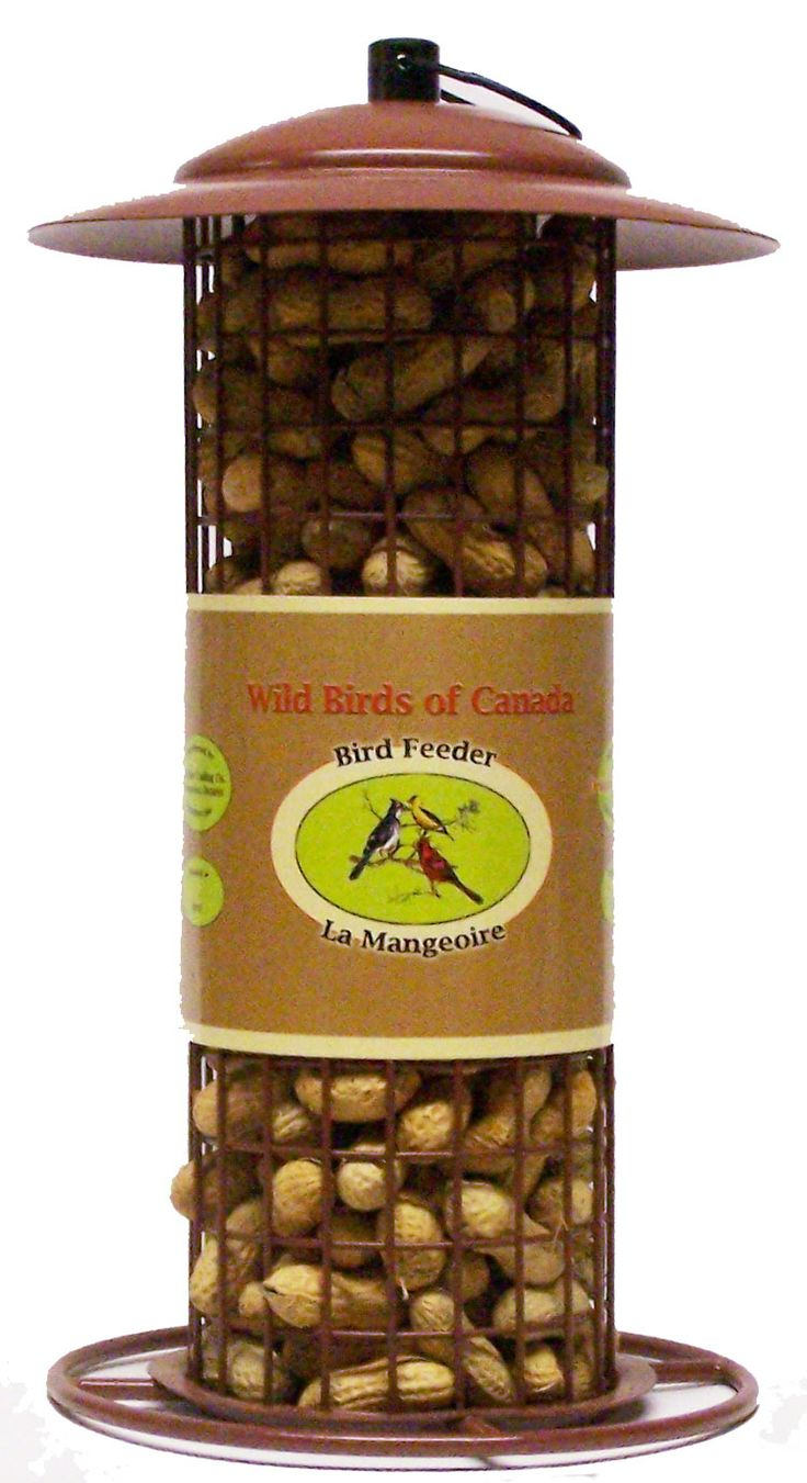 """IPF  Peanut in Shell Feeder  Large peanut in shell feeder. All steel design. Easy to fill large top opening. Large capacity measures: 12"""" tall x 7"""" diameter  Mangeoire arachides"""