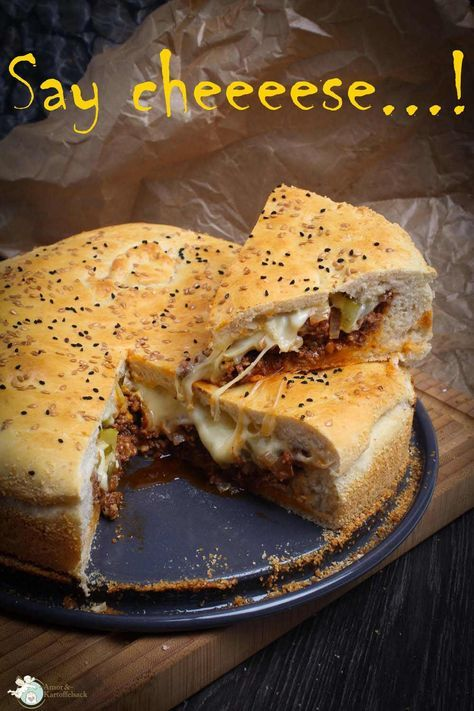 knuspriger Cheeseburgerkuchen