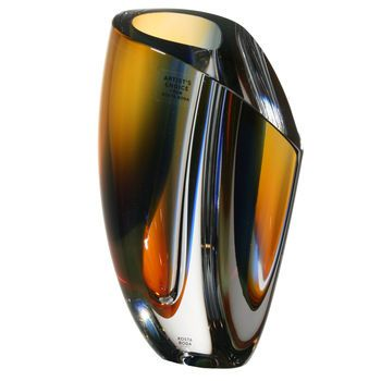 Mirage Vase Blue/amber Large, Göran Wärff, Kosta Boda - Buy art glass at ArtGlassVista!