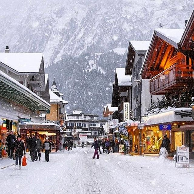 Snowy Mountain Villages Offering All Of The Holiday Feels Places In Switzerland Most Beautiful Places Beautiful Places