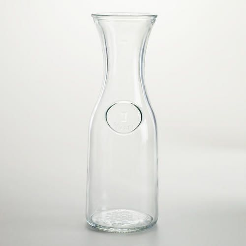 One of my favorite discoveries at WorldMarket.com: Glass Carafe Just what I need for milk, strawberry milk & chocolate milk!