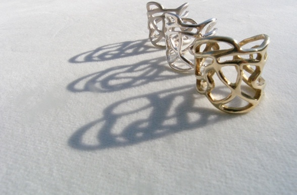 Lines collection silver & brass rings !!!