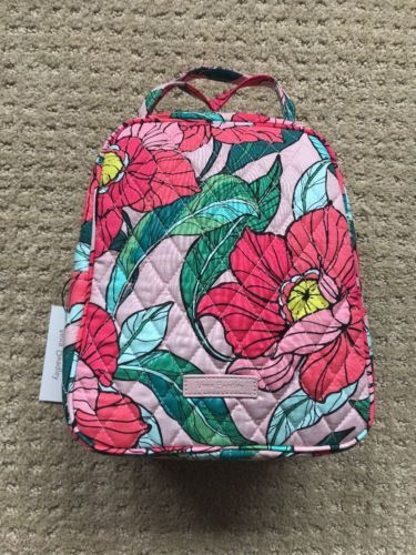 d8c50eb01f Nwts New Pattern Vera Bradley Lunch Bunch Bag Vintage Floral Rose Pink