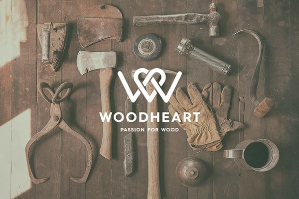 by Kevin Kurtovich Client: Woodheart - A Passion for Wood Agency: Freelance Location: Greece Creative Field(s): Art Direction, Branding, Logo Year: 2013