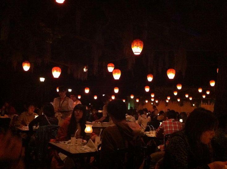 Inside the Blue Bayou restaurant, Tokyo Disneyland.