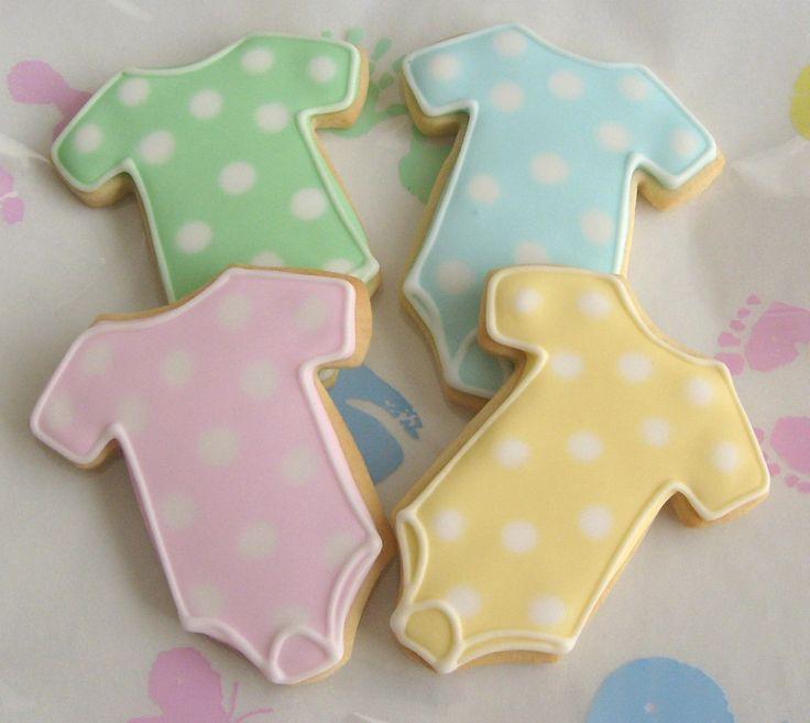 polka dot onesie cookies