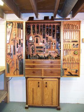 This is so wonderfully put together it makes me a bit wet. Tool Cabinet - Reader's Gallery - Fine Woodworking