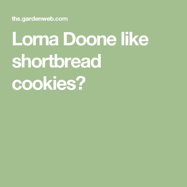Lorna Doone like shortbread cookies?