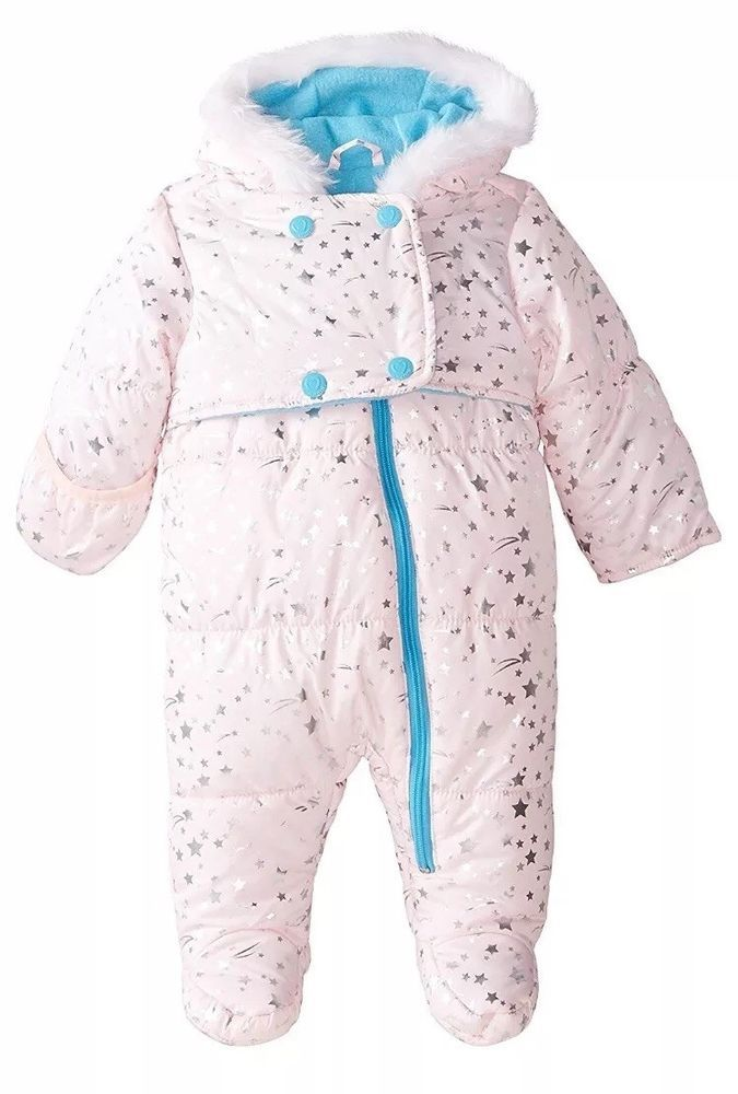 ab21b21d2 Wippette Baby-Girls Newborn Metallic Star Pram, Pink 3-6 Month snowsuit  winter | eBay