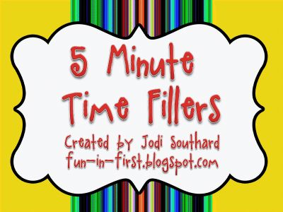 GREAT ideas for time-fillers when you have 5 extra minutesSchools, Minute Time, Minute Fillers, Extra Minute, Classroom Management, Education, Classroom Ideas, Classroom Time Fillers, First Grade