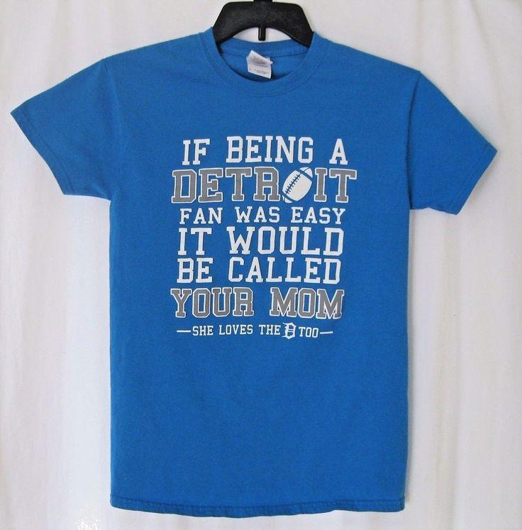 Detroit Lions Fan T-Shirt Unisex Size- S- Humorous Blue Sports Football Funny #Gildan #BasicTee