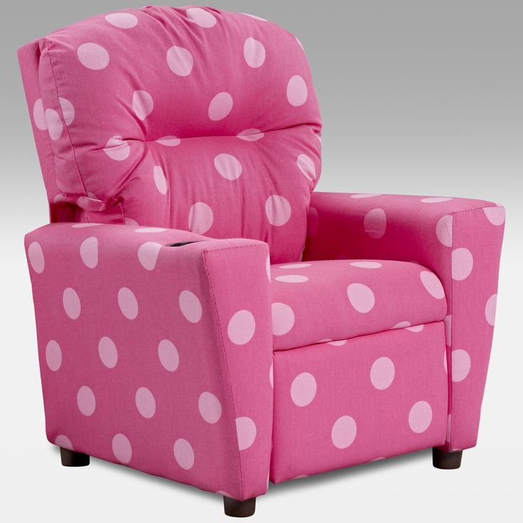 Kidz World Oxygen Pink Kids Recliner $92.99 - she needs this for reading..