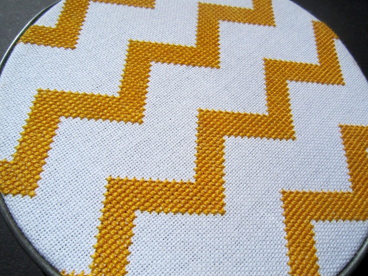 Chevron modern cross stitch.