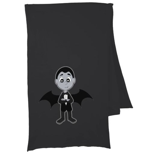 Vampire boy cartoon scarf