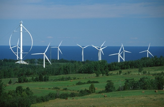 Eole' wind turbine, Cap Chat, Quebec.  July, 2012