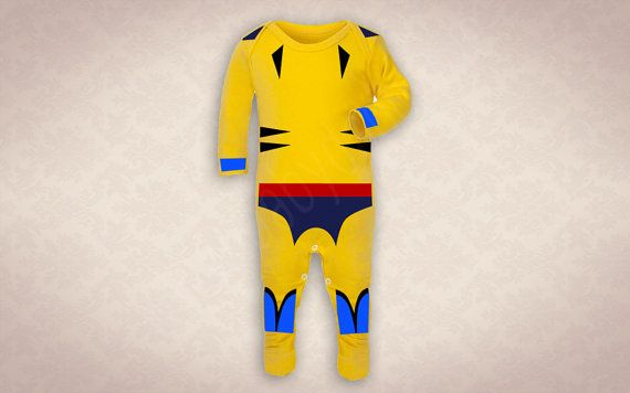 Baby Wolverine 90s style X-Men Onesie by BabyDapper on Etsy
