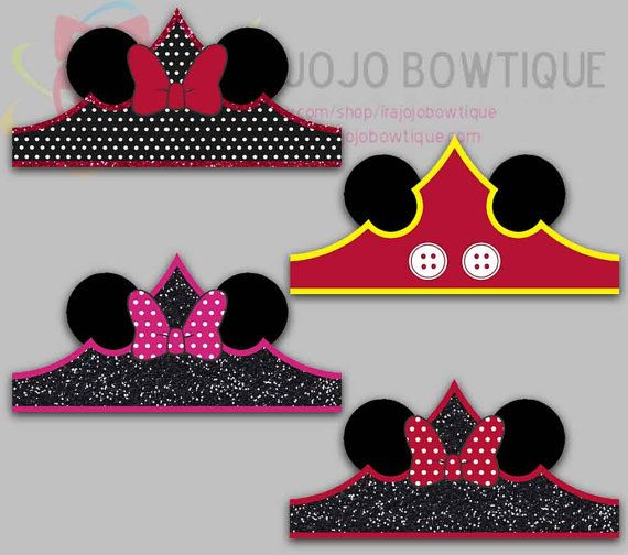 Minnie Mouse Mickey Mouse Paper Crown Minnie por IraJoJoBowtique
