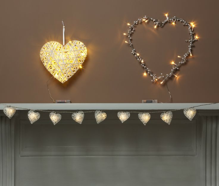 Bring some romance to any room with LED Heart string lights $8, Heart Wreath or Light up Heart $10 from The Reject Shop.
