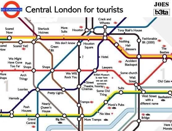 london underground the tube map for tourists