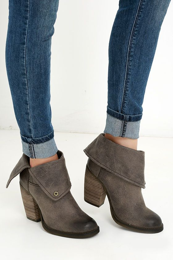 Sbicca Chord Taupe Fold-Over Boots