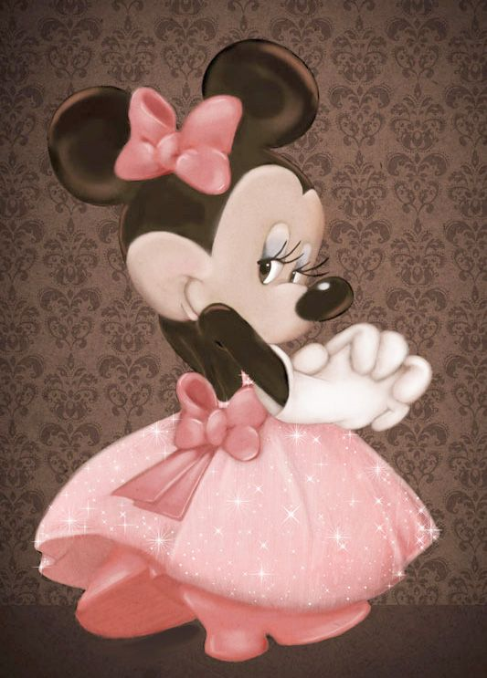 Peach mickey and Minnie Mouse | Minnie Mouse Princess Clipart