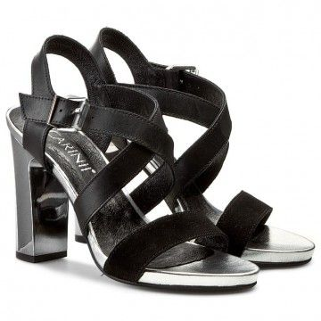 Sandały CARINII - B2580 Zamsz Czarny/Classic Nero