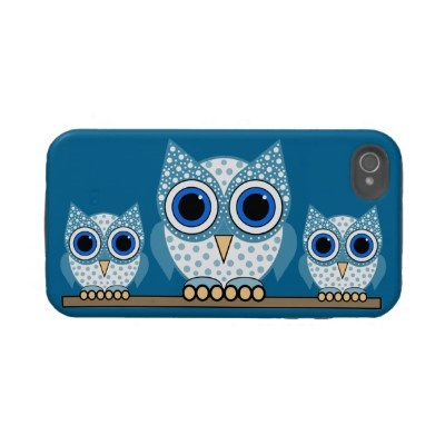 Hoo's calling?   cute owls tough iphone 4 case by animalsboutique on Zazzle.com - $44.95