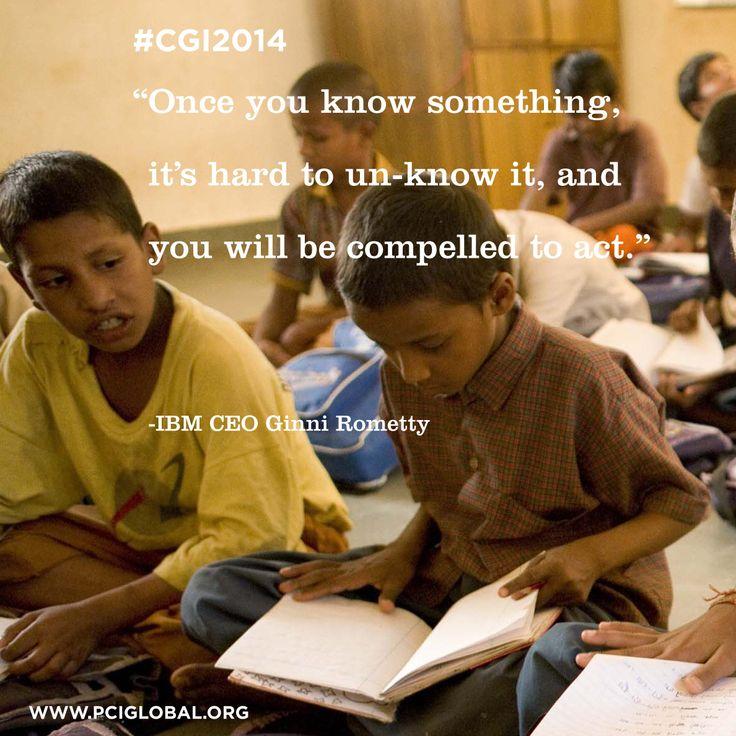 Ginni Rometty #IBM #CGI2014 #knowledge #education