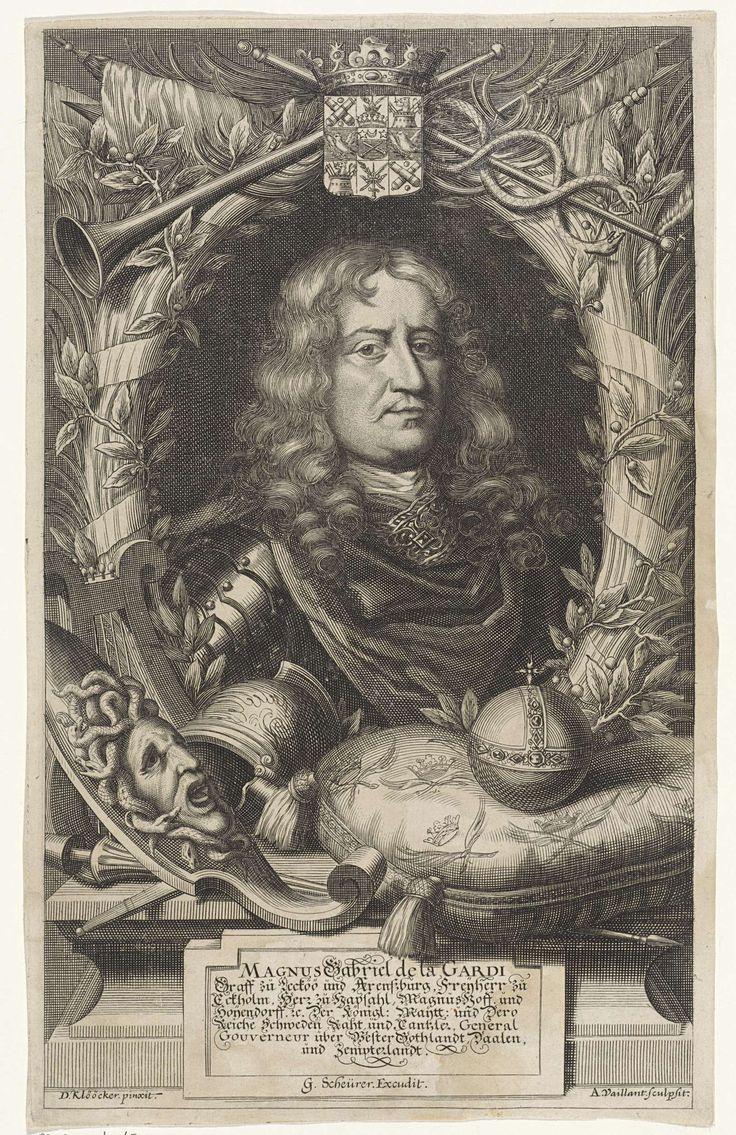 Portret van Magnus Gabriel de la Gardie, Andries Vaillant, 1665 - 1693